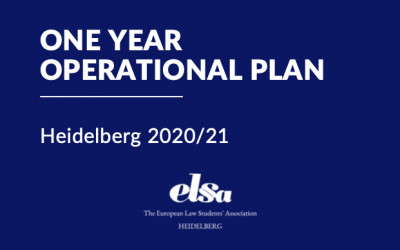 One Year Operational Plan – unsere Ziele